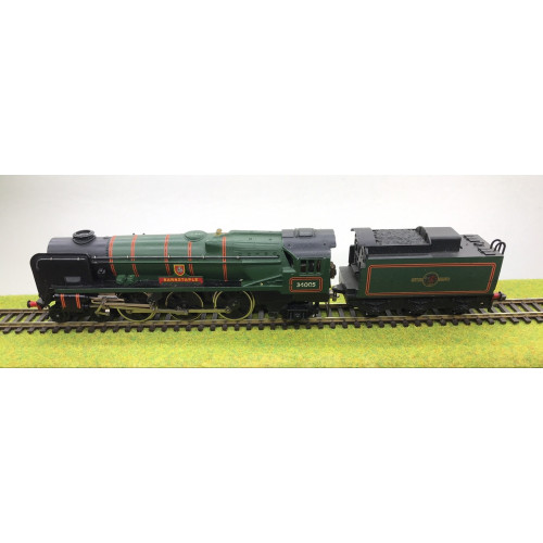 Hornby Dublo 2-Rail 4-6-2 West Country Class Steam Locomotive No.34005 in BR lined Green
