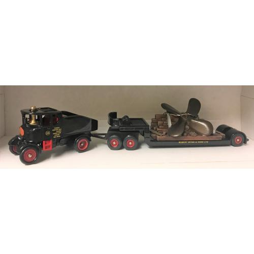Trackside DG111001 Wynn's Sentinel Ballast Box with Drawbar Low Loader & Propellor Load