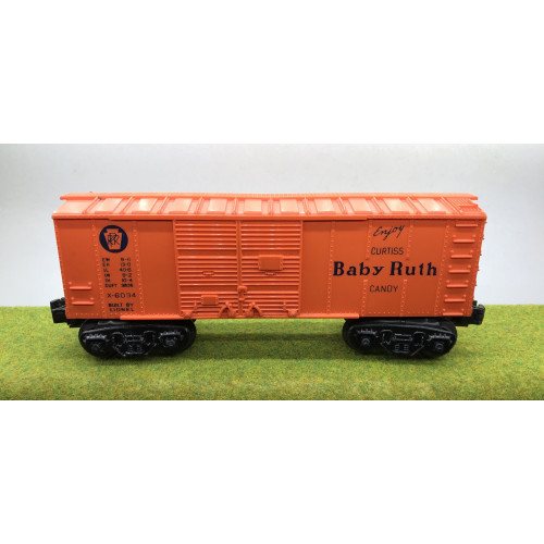 Lionel Curtiss Baby Ruth Candy Box Car No.X-6034 in Orange