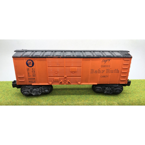 Lionel Curtiss Baby Ruth Candy Box Car No.X-6004 in Orange with Black Roof