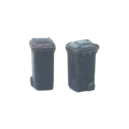 SS374 Wills Kits Wheelie Bins Closed   - BLACK