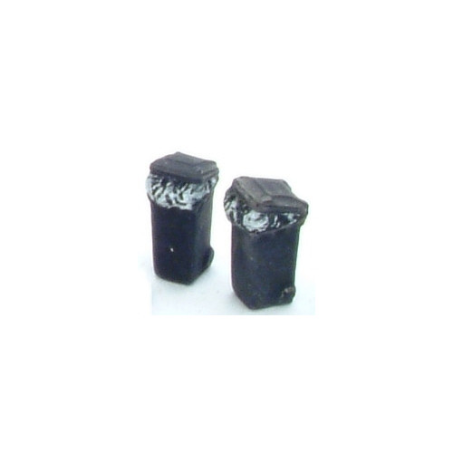 SS376 Wills Kits Wheelie Bins Overfilled - BLACK
