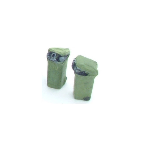 SS377 Wills Kits Wheelie Bins Overfilled - GREEN
