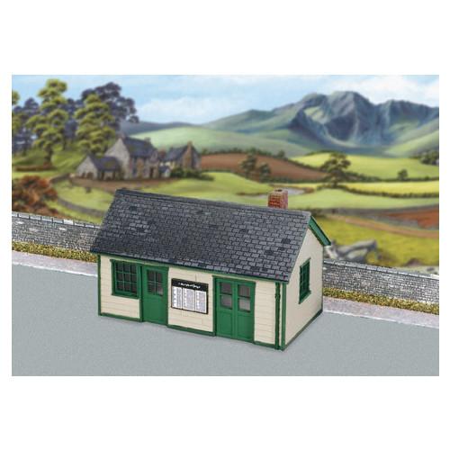 SS67 Wills Kits Wayside Station, Timber, Slate Roof, Brick Chimney