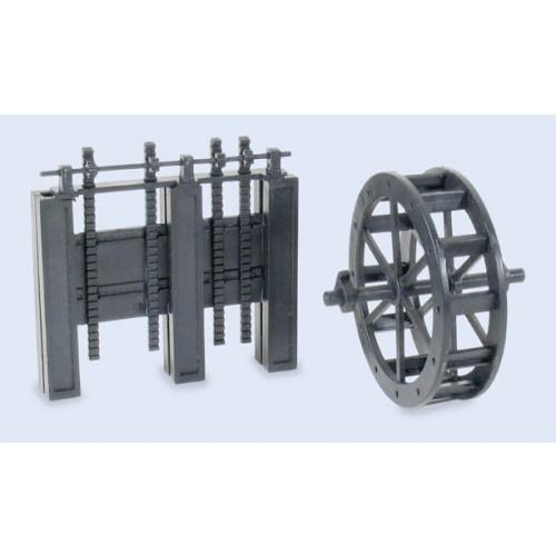 SS84 Wills Kits SS84 Water Wheel & Sluice Gates