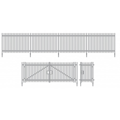 SSM316 Wills Kits Modern Palisade Fencing with Gates  (1460mm)