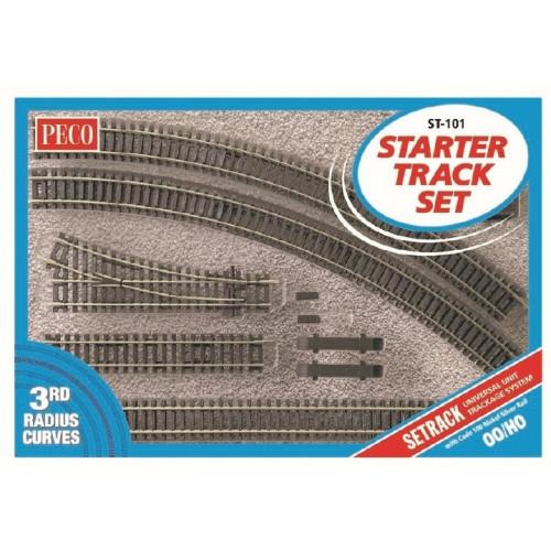 ST-101 Setrack OO/HO Starter Track Set, 3rd Radius Curves
