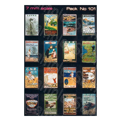 TSO101 Tiny Signs O Gauge Pre-Grouping Travel Posters Small