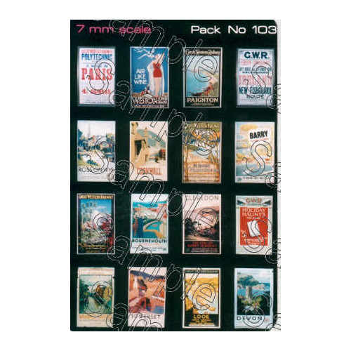 TSO103 Tiny Signs O Gauge GWR Travel Posters Small