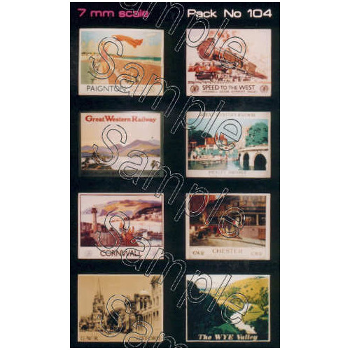 TSO104 Tiny Signs O Gauge GWR Travel Posters Large