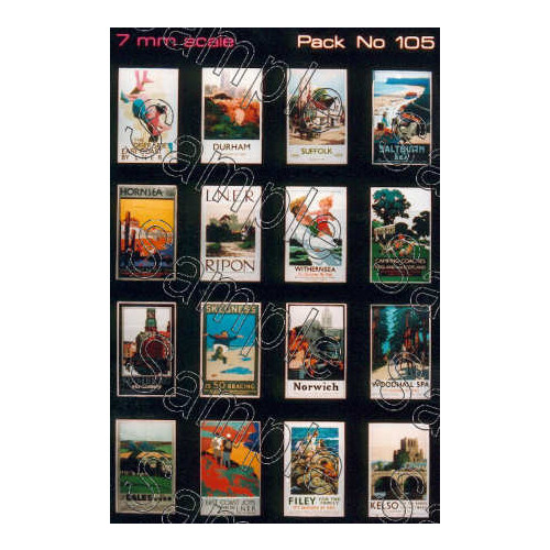 TSO105 Tiny Signs O Gauge LNER Travel Posters Small