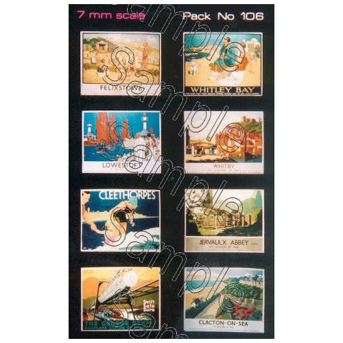 TSO106 Tiny Signs O Gauge LNER Travel Posters Large