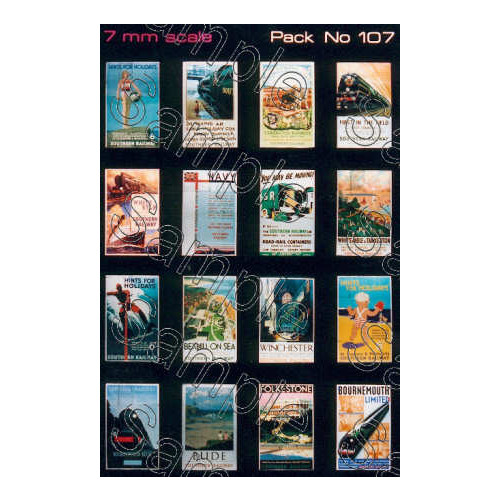 TSO107 Tiny Signs O Gauge SR Travel Posters Small