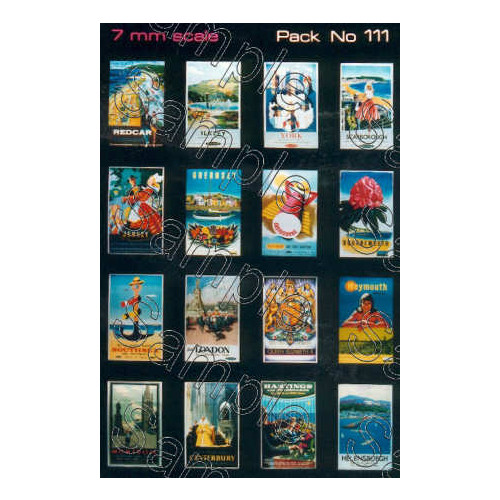 TSO111 Tiny Signs O Gauge BR Travel Posters Small
