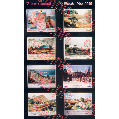 TSO112 Tiny Signs O Gauge BR Travel Posters Large
