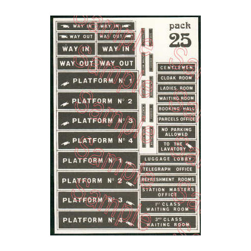 TSO25 Tiny Signs O Gauge Early Station Signs
