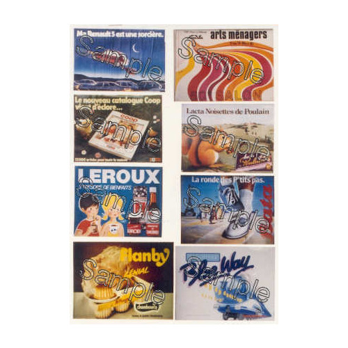 TSOO132 Tiny Signs 00 Gauge French Travel Posters Pack 2