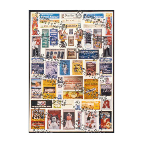 TSOO133 Tiny Signs 00 Gauge German Travel Posters Pack 1