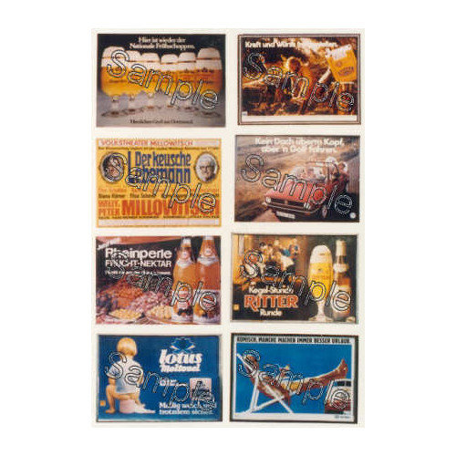TSOO134 Tiny Signs 00 Gauge German Travel Posters Pack 2