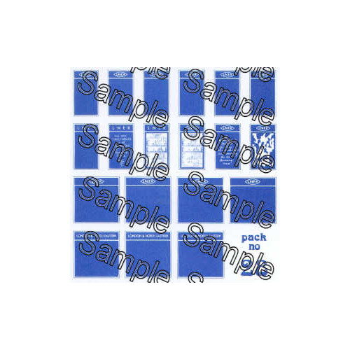 TSOO28 Tiny Signs 00 Gauge LNER Poster Boards