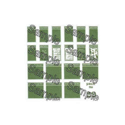 TSOO29 Tiny Signs 00 Gauge Southern Poster Boards