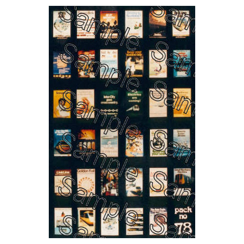 TSOO78 Tiny Signs 00 Gauge BR Modern Image Travel Posters