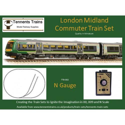 TTB-002 N Gauge London Midland Commuter Train Set