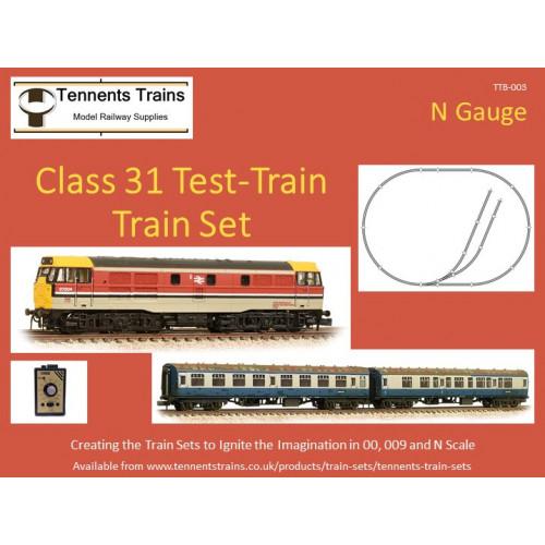 TTB-003 N Gauge Class 31 Test-Train Train Set