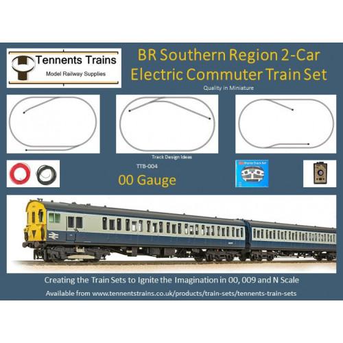 TTB-004 00 Gauge BR Southern Region 2-Car Electric Commuter Train Set