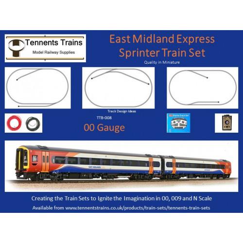 TTB-008 00 Gauge East Midland Express Sprinter Train Set