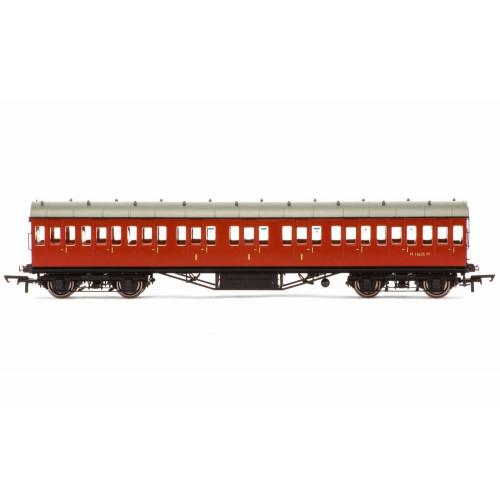 R4799 BR Ex-LMS Suburban Non-Corridor Composite Coach M16635 in Crimson Livery